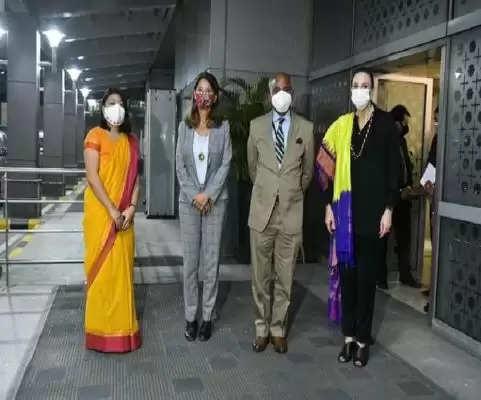 कोलंबियाई उपराष्ट्रपति मार्ता लूसिया रामिरेज, भारत के चार दिवसीय दौरे पर, वेंकैया नायडू से की मुलाकात