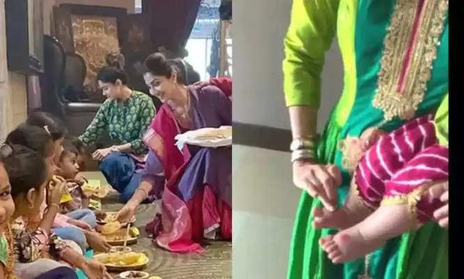 Navratri 2021: शिल्पा शेट्टी ने धूमधाम से मनाया नवरात्रि, दुर्गाष्टमी पर शिल्पा ने किया कन्या पूजन
